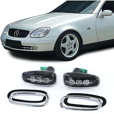 LED Klarglas Seitenblinker Schwarz für Mercedes Sprinter Vito W210 SLK R170