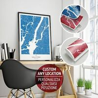 Stampa Giclee York Map - Wall Art Print Poster Minimalista Alta Definizione -  - ebay.it