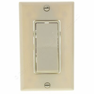 New Eagle Ivory 3-Way Lighted Quiet Rocker Switch with Wallplate Included C6663V Lighted Quiet Switch