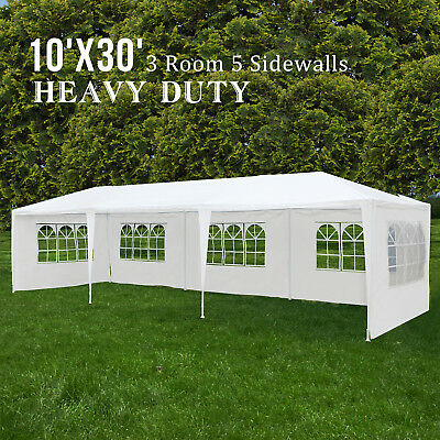 10'x30' Outdoor Canopy Party Wedding Tent Gazebo Heavy Duty with 5 Side Walls
