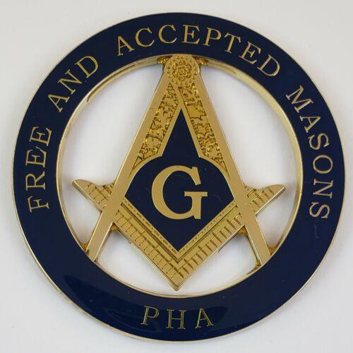 Auto Emblem Masonic Prince Hall Mason PHA Die Cut Freemason Mason