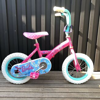 "12"" kids Barbie bike."