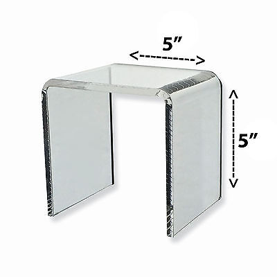 Acrylic Clear Square Riser Display Stand 5 X 5 X 5 Lot Of 2