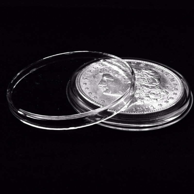 25 Airtite Coin Holders Capsules for Peace, Morgan & Ike 1oz Silver Dollar 38mm