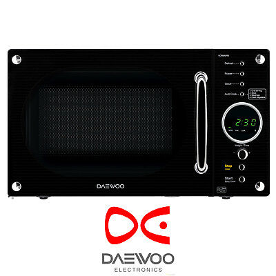 Daewoo KOR8A9RB 23L Freestanding 800W Retro Style Touch Control Black Microwave