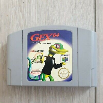 GEX 64 ENTER THE GECKO NINTENDO 64 N64 GAME OFFICIAL EUR UK PAL *CART ONLY*