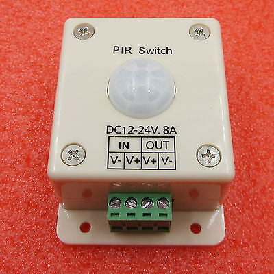 Automatic Infrared Pir Motion Sensor Switch Dc 12v-24v 8a Detector Practicall1st