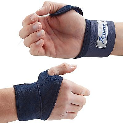 Actesso Blue Wrist Hand Strap Support Wrap Strap - Sports Bandage for RSI & Pain