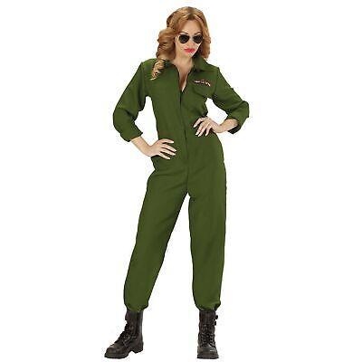 WIDMANN Ladies Fighter Jet Pilot Girl Costume for War Hot Shot Top Gun Fancy - Top Gun Girl Kostüm