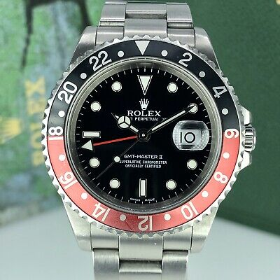 2001 Rolex GMT Master II 16710 Coke K serial Unpolished Faded Insert With Box