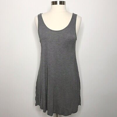 H&M Dividend Medium Size 12 Grey Jersey Scoop Back Cover Up Dress Tank Gray
