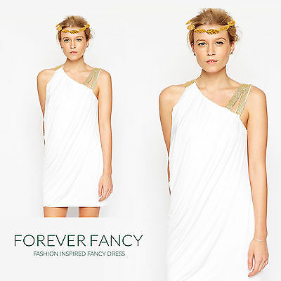 Adult Caesar Toga Greek Roman Fancy Dress Costume Outfit Goddess Grecian Julius (Caesar Outfit)