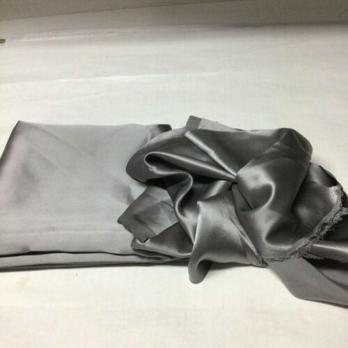 100% Silk Beautiful Gray Charmeuse Fabric Sewing Crafts