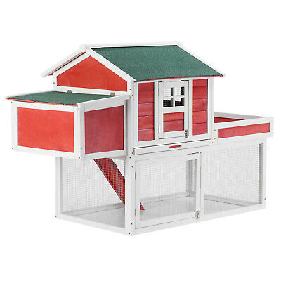 """61"""" Wooden Large Chicken Coop Hen House Small Animal Cage Rabbit Hutch with Run"""