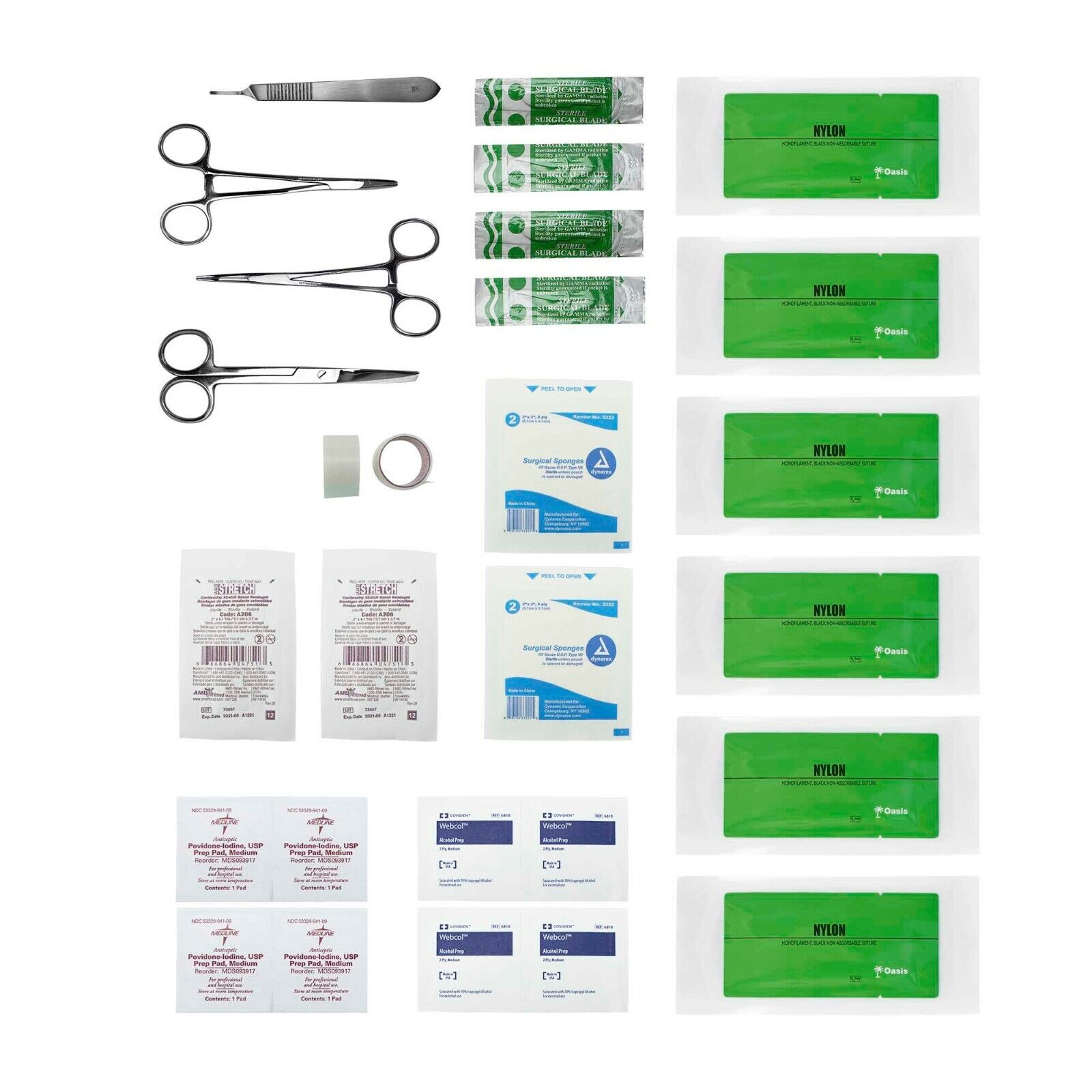Best NEW ADVANCED SURGICAL SUTURE KIT, FIRST AID MEDICAL TRAVEL TRAUMA PACK, 28 PIECES