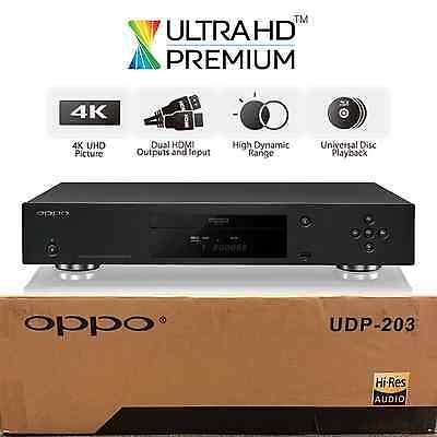 OPPO DIGITAL UDP-203 4K ULTRA HD UHD UNIVERSAL NETWORK 3D BLU-RAY DVD PLAYER NEW