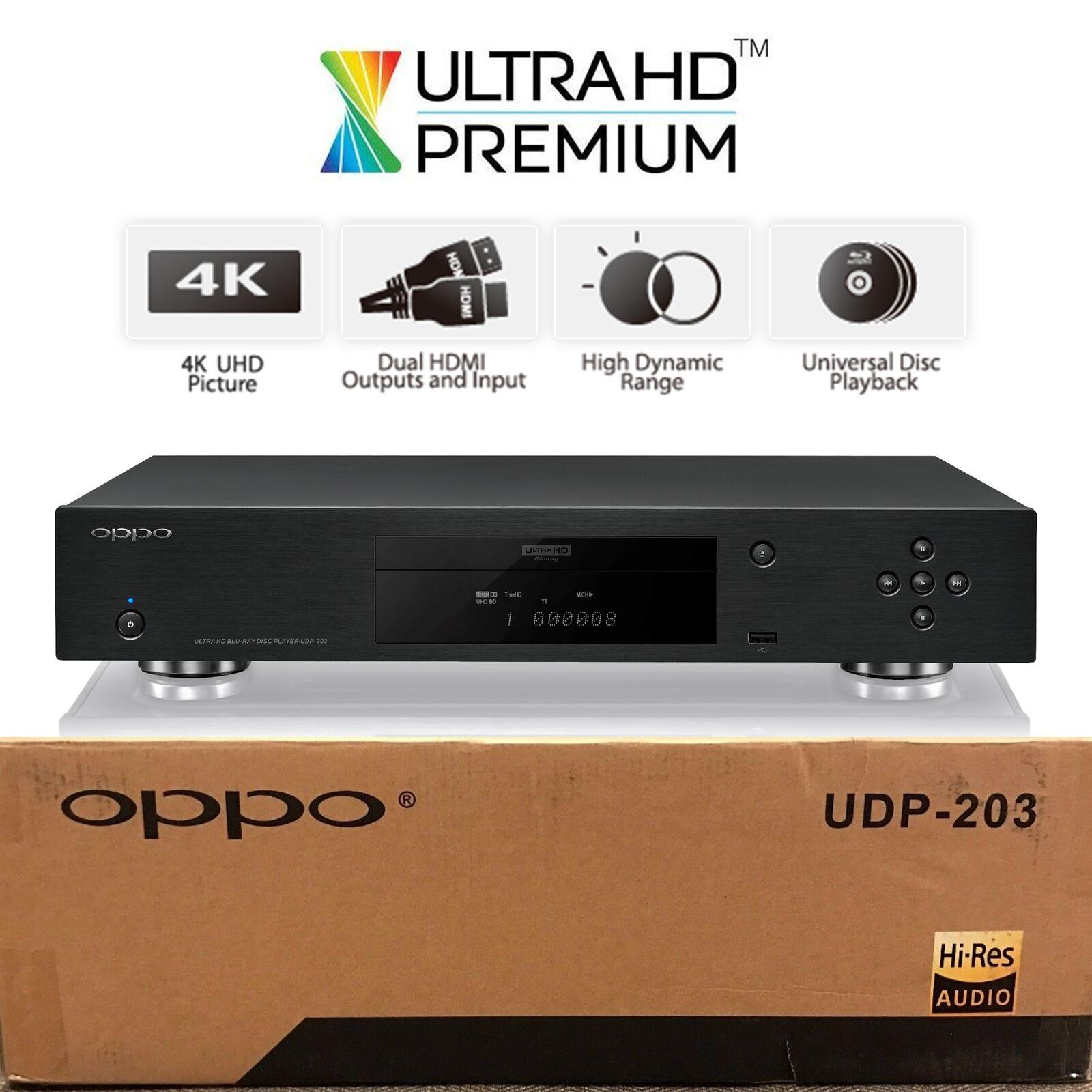 OPPO DIGITAL UDP 203 4K ULTRA HD UHD UNIVERSAL NETWORK 3D BL