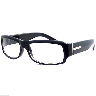 Rectangular Mens Womens Unisex Nerdy Clear Lens Thick Glasses Frame (Thick Nerdy Glasses)