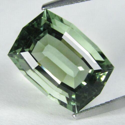 10.83Ct Amazing Natural Green Amethyst (prasiolite) Cushion Custoom Cut REF VDO