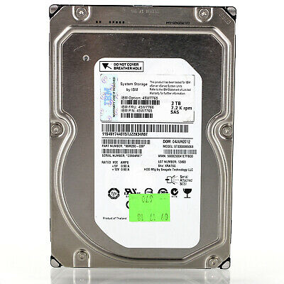 "IBM 45W7766 Seagate 3.5"" 3TB 7200 RPM 64MB 6Gbps SAS HDD Hard Drive ST33000650SS for sale  Shipping to Nigeria"