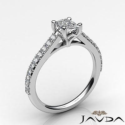 100% Natural Cushion Diamond Engagement Prong Set Ring GIA F Color VS1 0.75 Ct 1