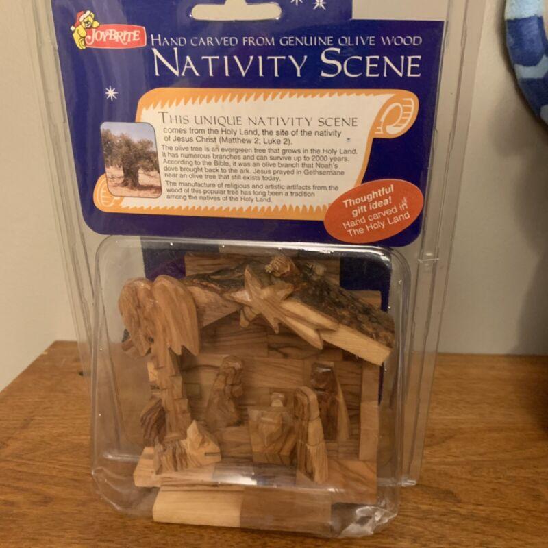 Hand Carved Nativity Scene by Joy Brite Madin Israel