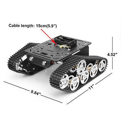 Robot Smart Car Platform Metal Aluminium Alloy Tank Chassis W Dual Dc 9v Motor