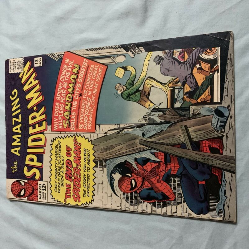 AMAZING SPIDER-MAN #18 Key Issue VERY GOOD VG 1st Ned Leeds Appearance 1964