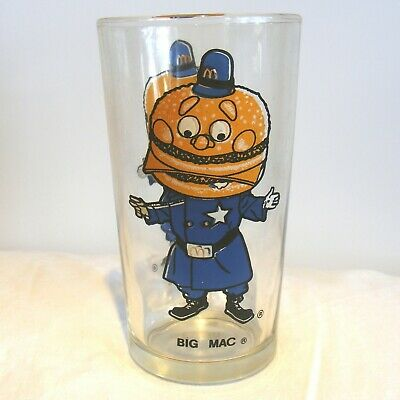 McDonald's BIG MAC Policeman Drinking Glass Promotional Collectible (Promotional Glasses)