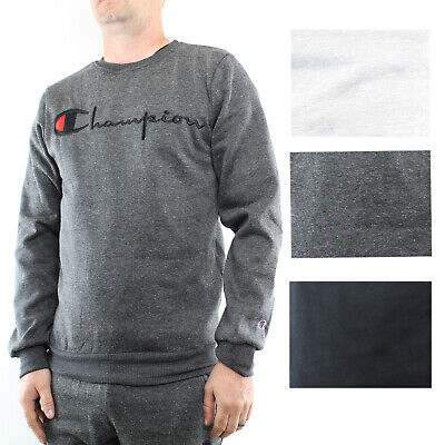 Champion Men's Fleece Sweatshirt Pullover Active Crew Neck Logo Long Sleeve  Champion Crew Neck Sweatshirt