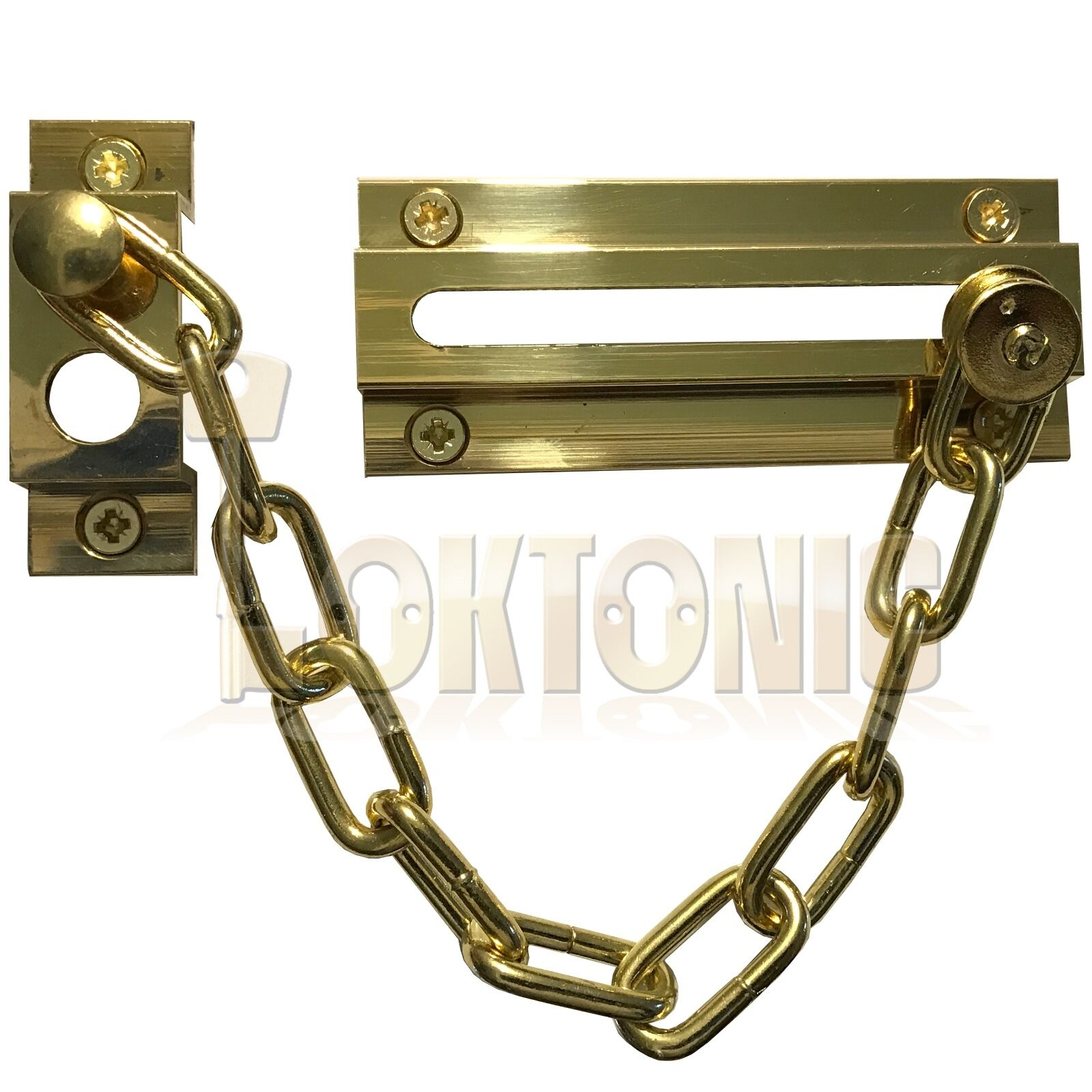 Strong Security Door Chain Heavy Duty Brass Safety Guard Lock Catch Loktonic