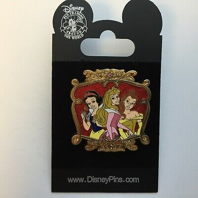 DLR - Starter Set - Snow White, Aurora, and Belle Only - Disney Pin 53874 - Belle And Snow White