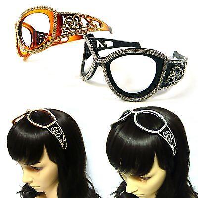 Crystal Rhinestone Plastic Sunglasses Hair Jewelry Headband Headpiece Hairband  - Sunglasses Headband