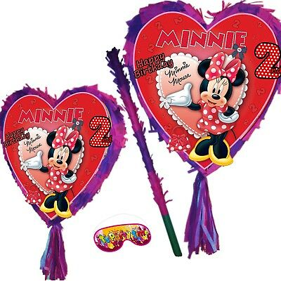 Minnie 2nd Birthday Pinata two Party Stick Disney Princess 2 New Junior Mouse UK - Disney Princess Pinata