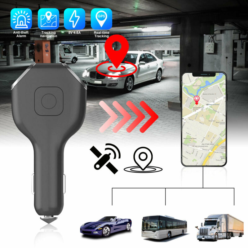 Real Time Vehicle Tracking Device Car GPS Tracker & USB Charger with Live Audio
