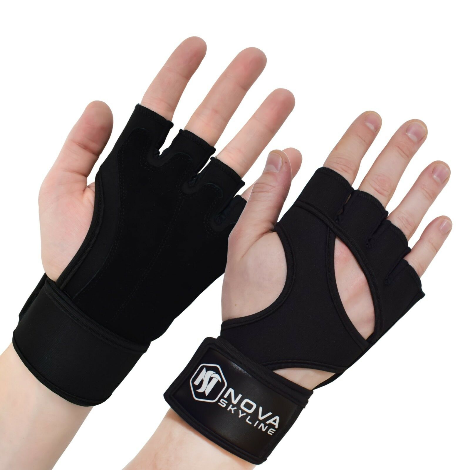 Gym, Weightlifting, Exercise, Fitness & CrossFit Gloves - Pi