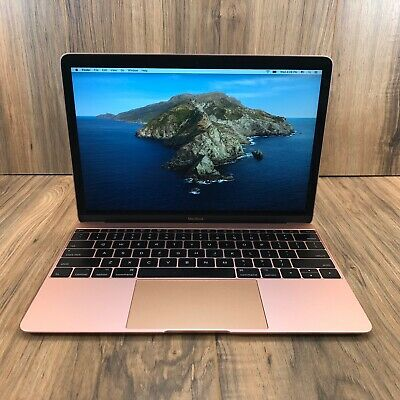 "Apple MacBook 2017 Gold 12"" Retina 512GB SSD 8GB RAM 1.3GHz Intel i5 Tested"