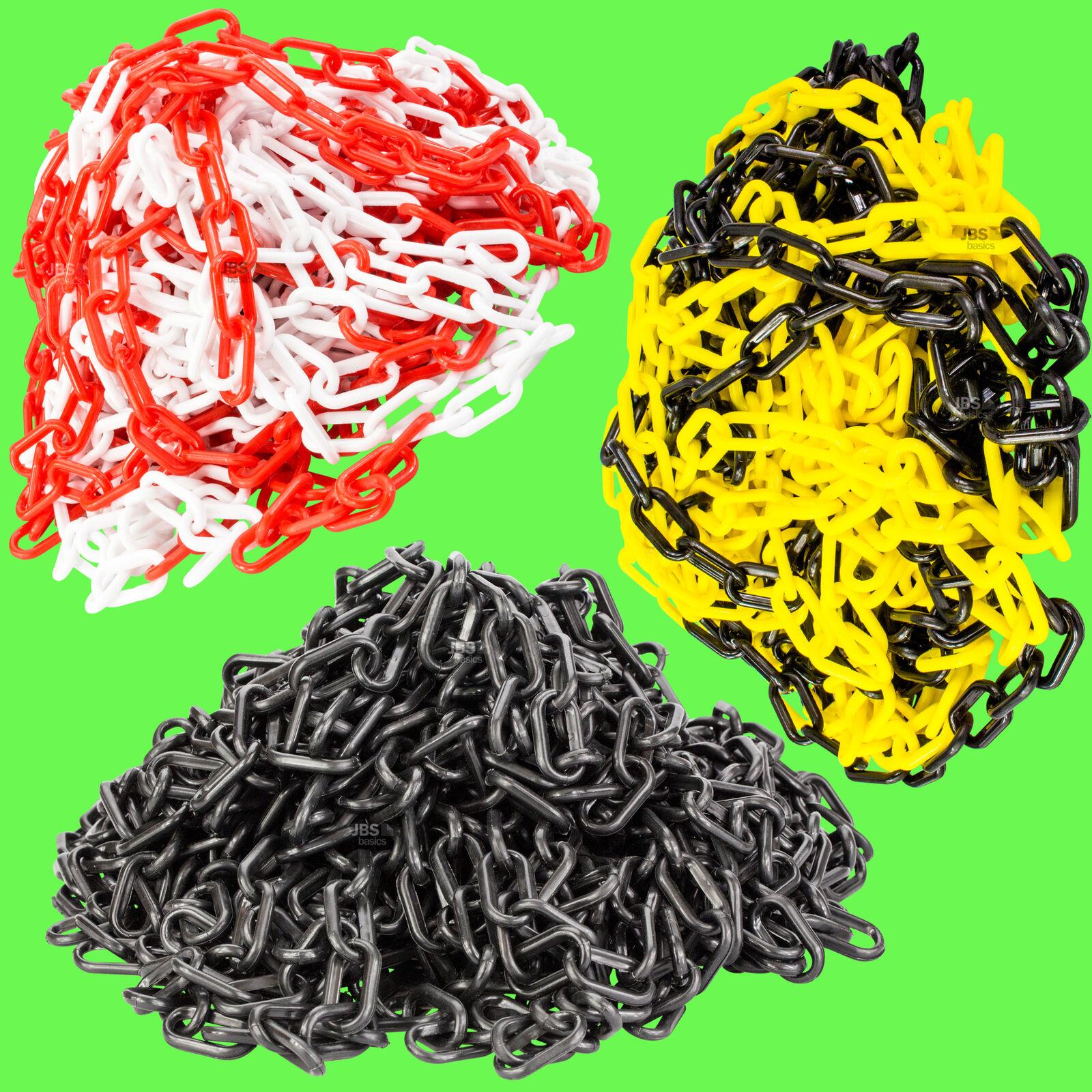 ► Absperrkette 30 25 10 m Meter gelb schwarz rot 6mm Warnkette Kunststoff Kette