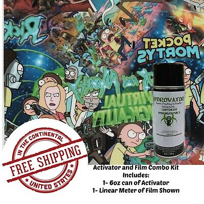 Hydrographic Water Transfer Hydro Dip 6oz Activator 1m Science Dudes Film Kit