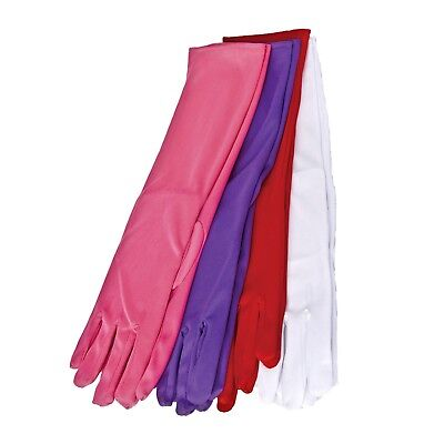 Women's Princess Opera Gloves Costume Long Red Purple Pink White Jessica - Long White Costume Gloves
