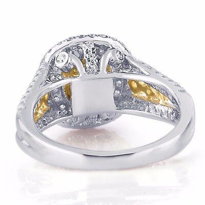GIA Certified 2.04 Ct Cushion Cut Natural Yellow Diamond Engagement Ring 18k  2