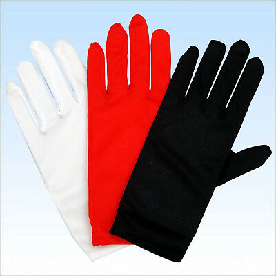 Handschuhe für elegante Abendgarderobe Rot Weiß Schwarz Handschuh Finger