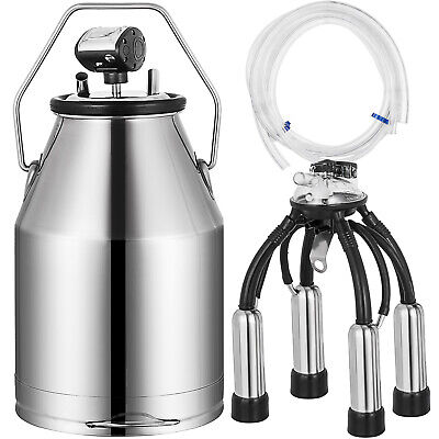 Electric Milker Bucket 25l Milking Machine Portable Stainless Steel Barrel Pail