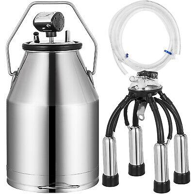 Electric Milker Bucket 25l Milking Machine Portable Stainless Steel Barrel Pail