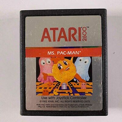 Video Game Cartridge 1982 Atari 2600 Ms. Pac Man                             B-B