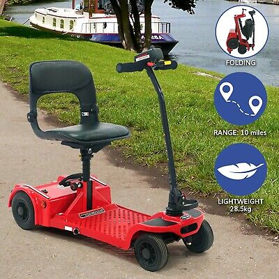 Pro Rider Easyfold Class 2 4mph Portable Folding Car Boot Mobility Scooter - Red