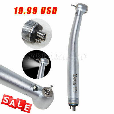 Dental Led Fiber Optic High Speed Handpiece E-generator 4holes Burr Brand New