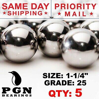 5 Qty - 1-14 Inch G25 Precision Chrome Steel Bearing Balls Chromium Aisi 52100