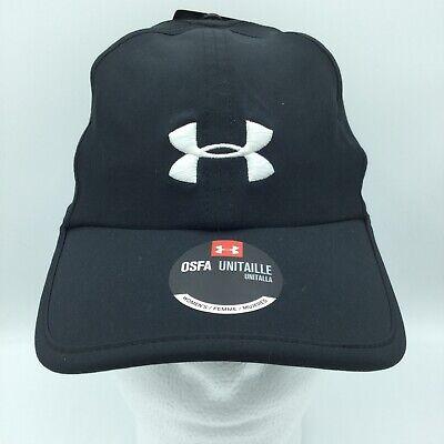 47368b56838 Under Armour Womens OSFA Hat Black HeatGear Running Activity NWT