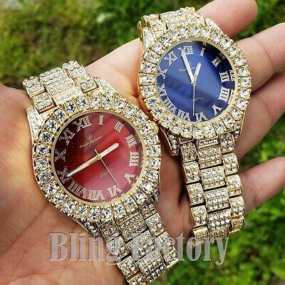 Diamond Luxury Watch - Hip Hop Iced Rapper's Lab Diamond Metal Band Clubbing wrist Luxury Watch